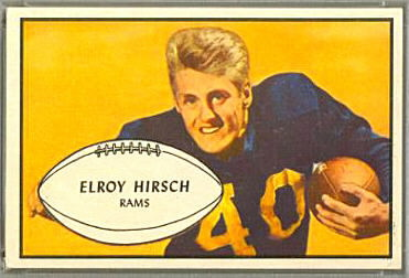 Elroy Hirsch 1953 Bowman football card
