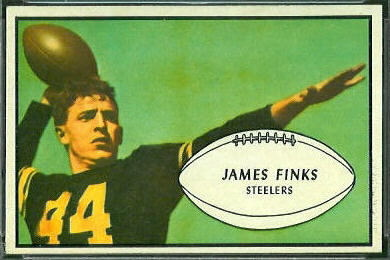Jim Finks 1953 Bowman football card