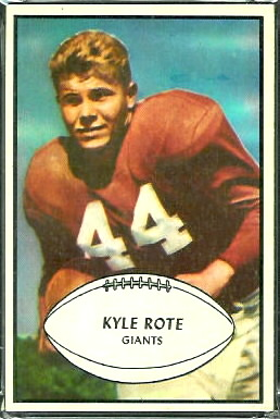 Kyle Rote 1953 Bowman football card