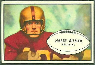 Harry Gilmer 1953 Bowman football card