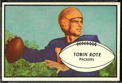 Tobin Rote 1953 Bowman football card