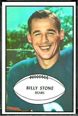 Billy Stone 1953 Bowman football card