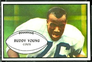 Buddy Young 1953 Bowman football card