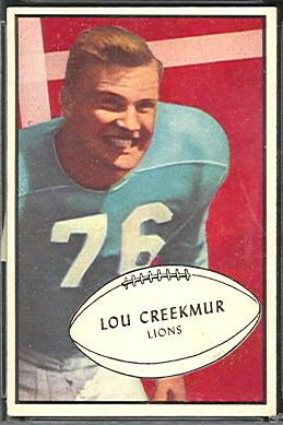Lou Creekmur 1953 Bowman football card