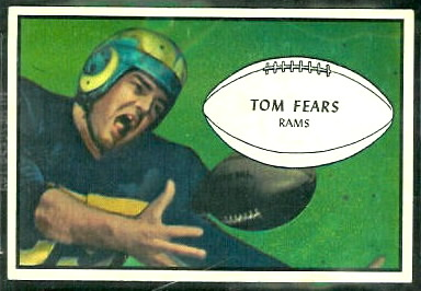 Tom Fears 1953 Bowman football card
