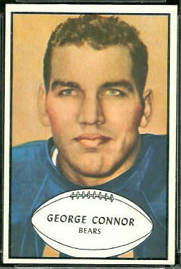 George Connor 1953 Bowman football card