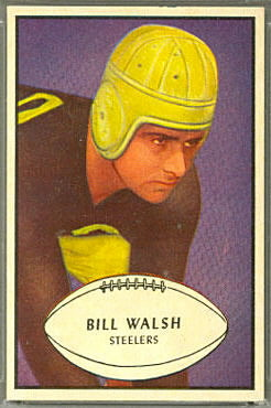 Bill Walsh 1953 Bowman football card