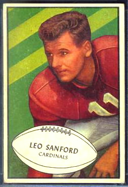 Leo Sanford 1953 Bowman football card