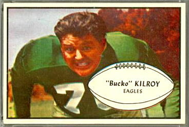 Bucko Kilroy 1953 Bowman football card