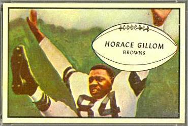 Horace Gillom 1953 Bowman football card