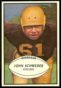 John Schweder 1953 Bowman football card