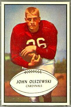 John Olszewski 1953 Bowman football card