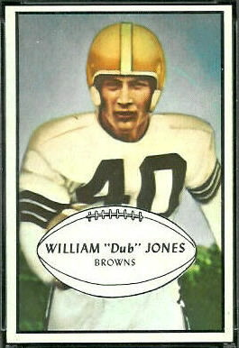 Dub Jones 1953 Bowman football card