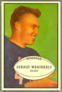 Gerald Weatherly 1953 Bowman football card
