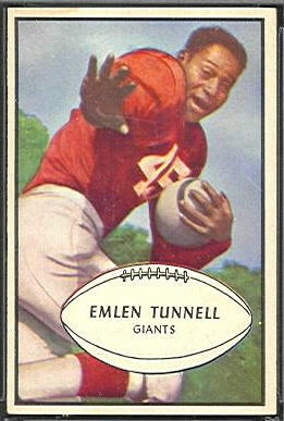 Emlen Tunnell 1953 Bowman football card