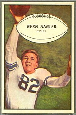 Gern Nagler 1953 Bowman football card