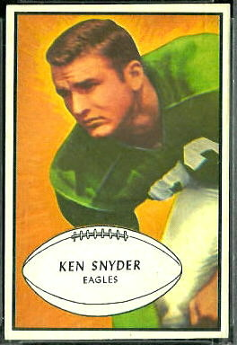 Ken Snyder 1953 Bowman football card