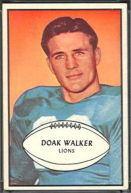 Doak Walker 1953 Bowman football card