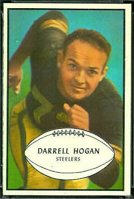 Darrell Hogan 1953 Bowman football card