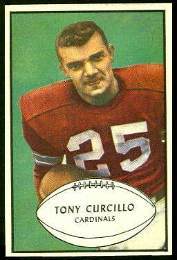 Tony Curcillo 1953 Bowman football card
