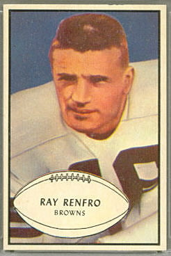 Ray Renfro 1953 Bowman football card