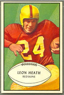 Leon Heath 1953 Bowman football card