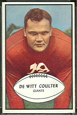 Tex Coulter 1953 Bowman football card