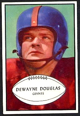 Dewayne Douglas 1953 Bowman football card