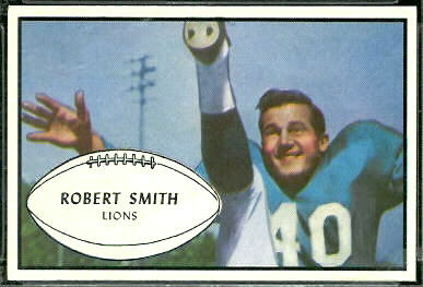 Robert Smith 1953 Bowman football card