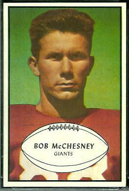 Bob McChesney 1953 Bowman football card