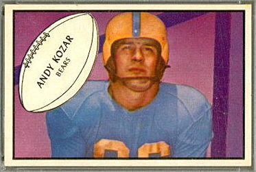 Andy Kozar 1953 Bowman football card