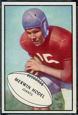 Merwin Hodel 1953 Bowman football card