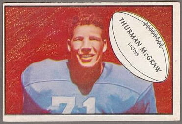 Thurman McGraw 1953 Bowman football card
