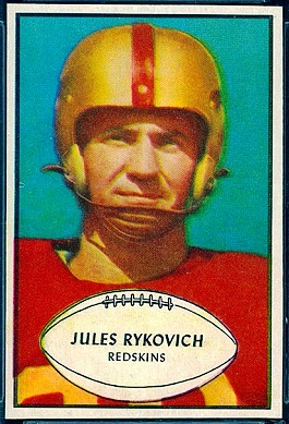 Julie Rykovich 1953 Bowman football card