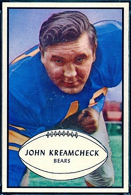 John Kreamcheck 1953 Bowman football card