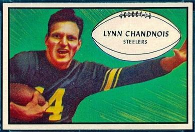 Lynn Chandnois 1953 Bowman football card