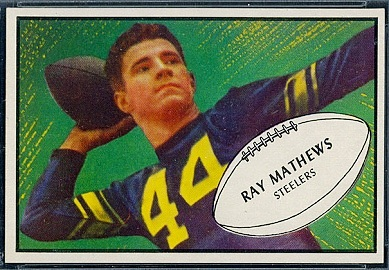 Ray Mathews 1953 Bowman football card