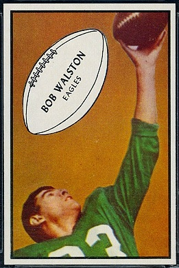 Bobby Walston 1953 Bowman football card