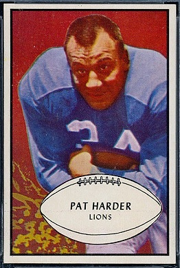 Pat Harder 1953 Bowman football card