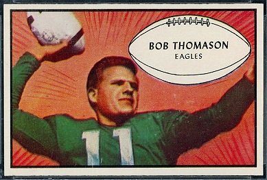 Bobby Thomason 1953 Bowman football card