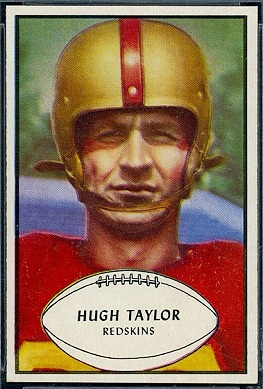 Hugh Taylor 1953 Bowman football card