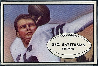 George Ratterman 1953 Bowman football card