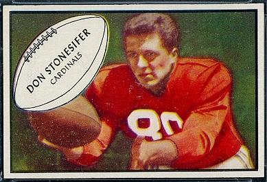 Don Stonesifer 1953 Bowman football card