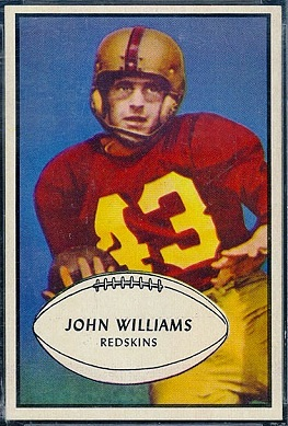 John Williams 1953 Bowman football card