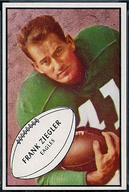 Frank Ziegler 1953 Bowman football card