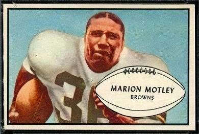 Marion Motley 1953 Bowman football card