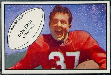 Don Paul 1953 Bowman football card