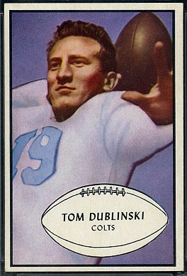 Tom Dublinski 1953 Bowman football card