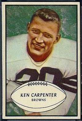 Ken Carpenter 1953 Bowman football card