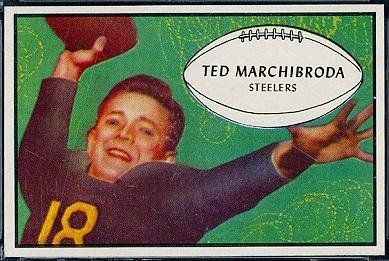 Ted Marchibroda 1953 Bowman football card